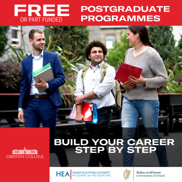 Griffith College Offering Free and 90% Funded postgraduate and Short Courses.